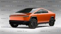 Tesla Cybertruck, il rendering del modello di serie