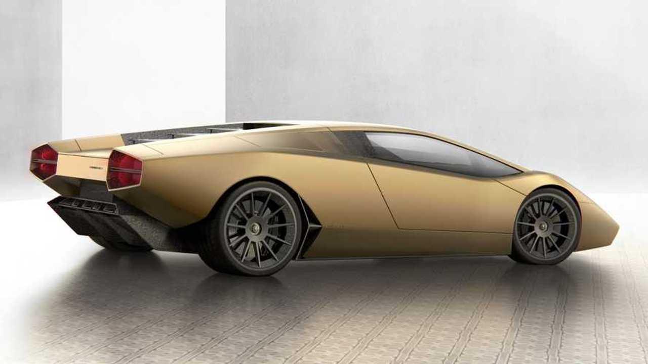 Recreación Lamborghini Countach moderno