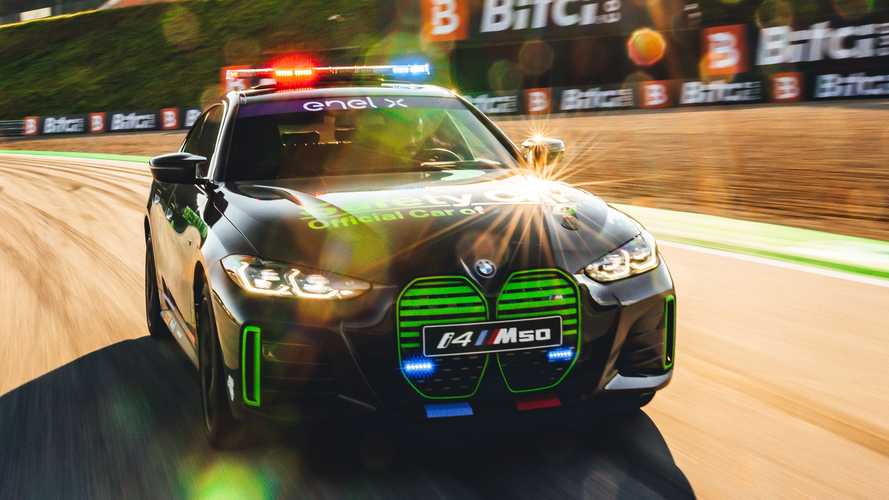 BMW i4 M50 Safety Car at the GP of Styria in Spielberg