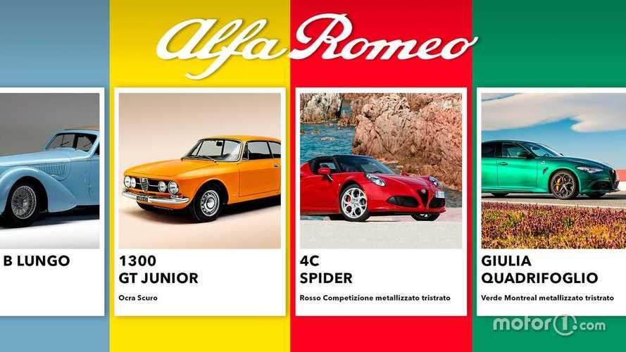 Alfa Romeo, tutti i colori che hanno fatto la storia del Biscione