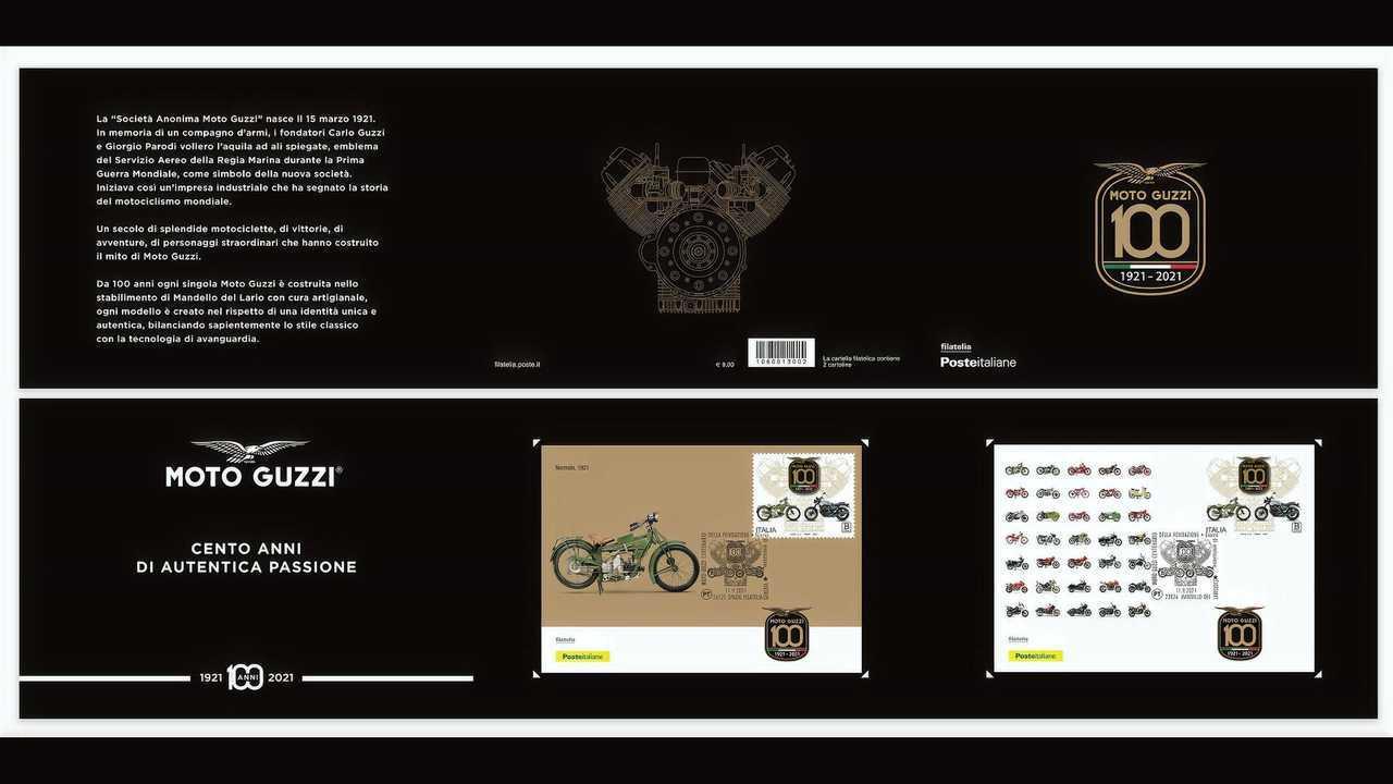 Moto Guzzi Poste Italiane Stamps 2021