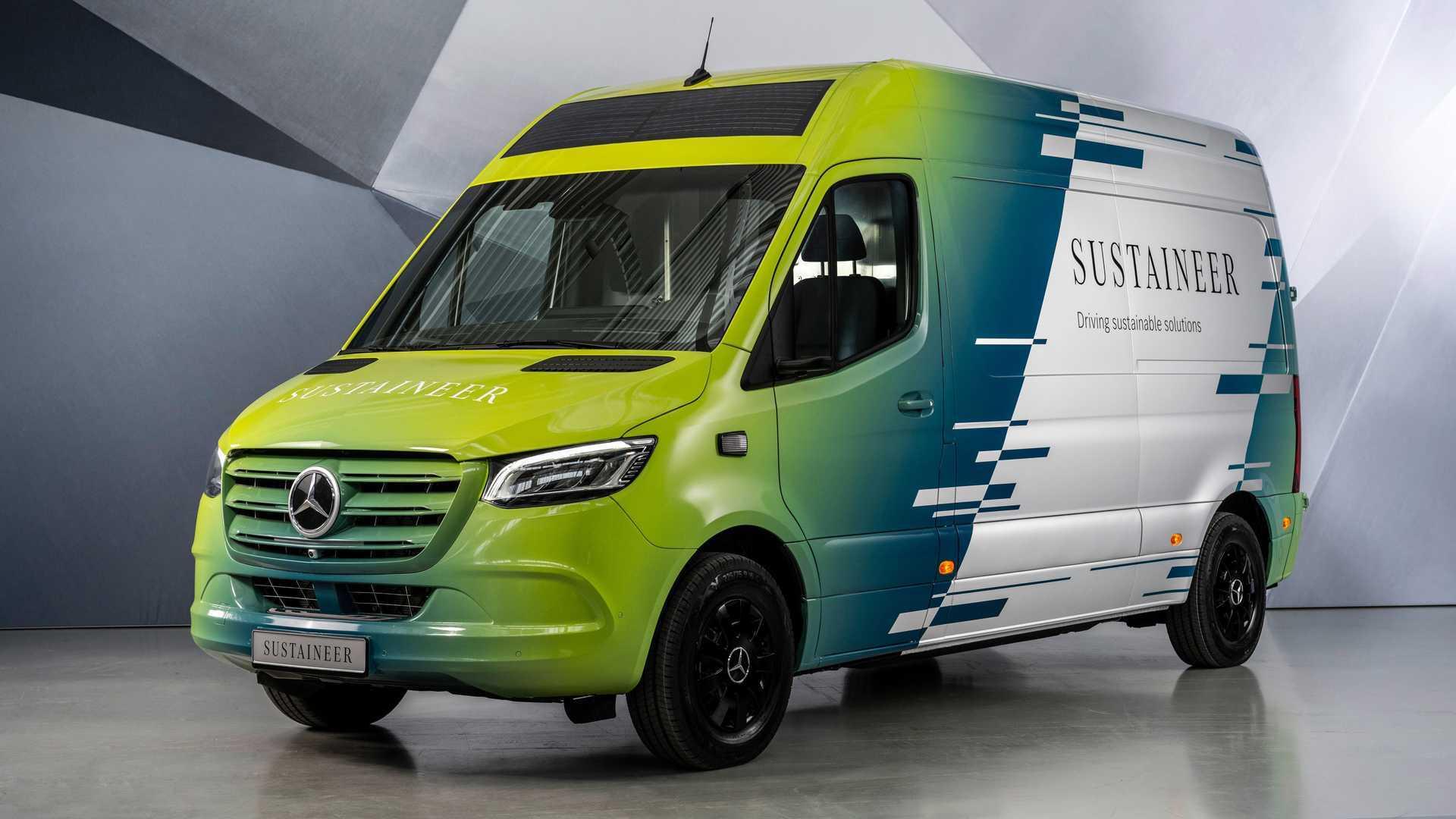 Il furgone elettrico che pulisce l'aria, ecco il Mercedes Sustaneer