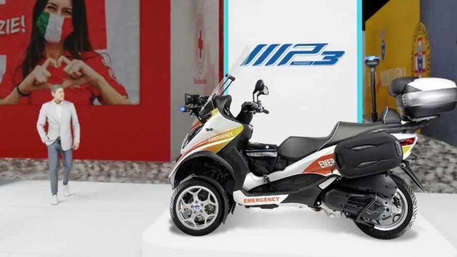 Ambulans Piaggio MP3 Motor dengan Fleksibilitas Tinggi