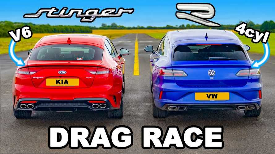 UK: VW Arteon R drag races Kia Stinger in Germany vs Korea battle
