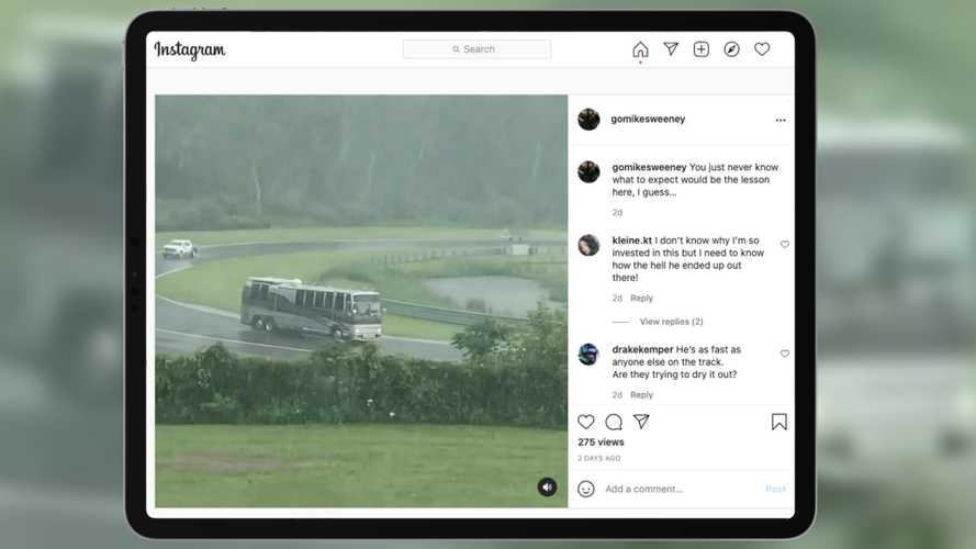 Bold RV Driver Enters Race Track During Red Flag, Gets Arrested
