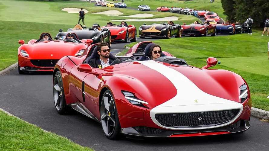 L'incredibile parata di 30 Ferrari Monza SP1 e SP2