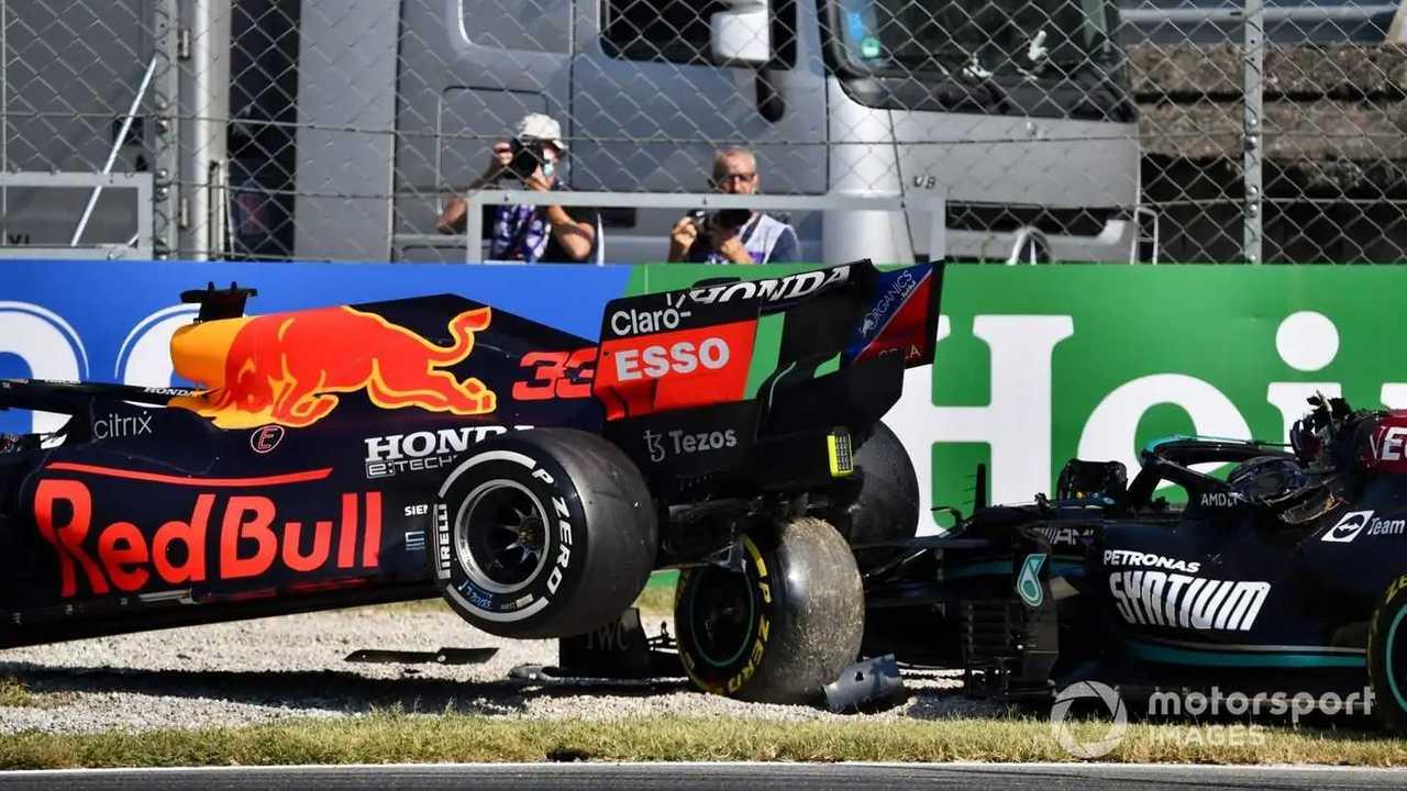 Lewis Hamilton and Max Verstappen at Italian GP 2021