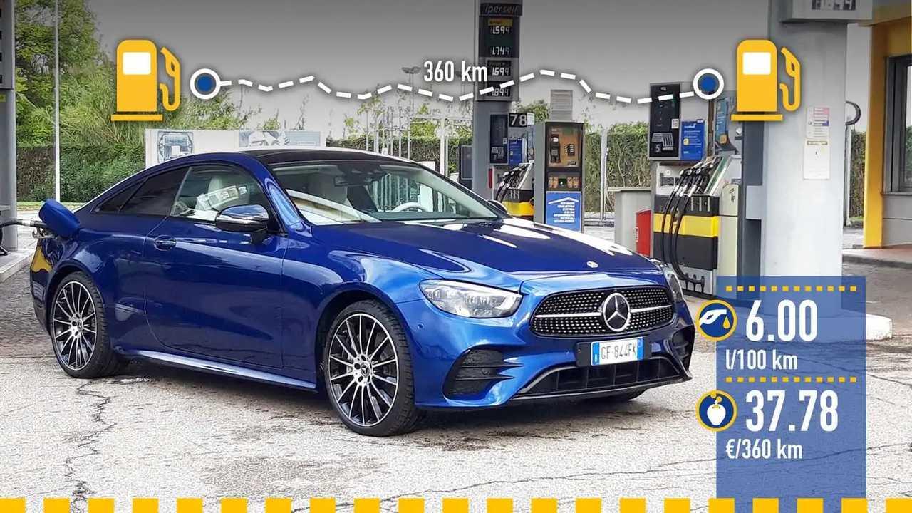 Mercedes Classe E Coupé mild hybrid, la prova consumi