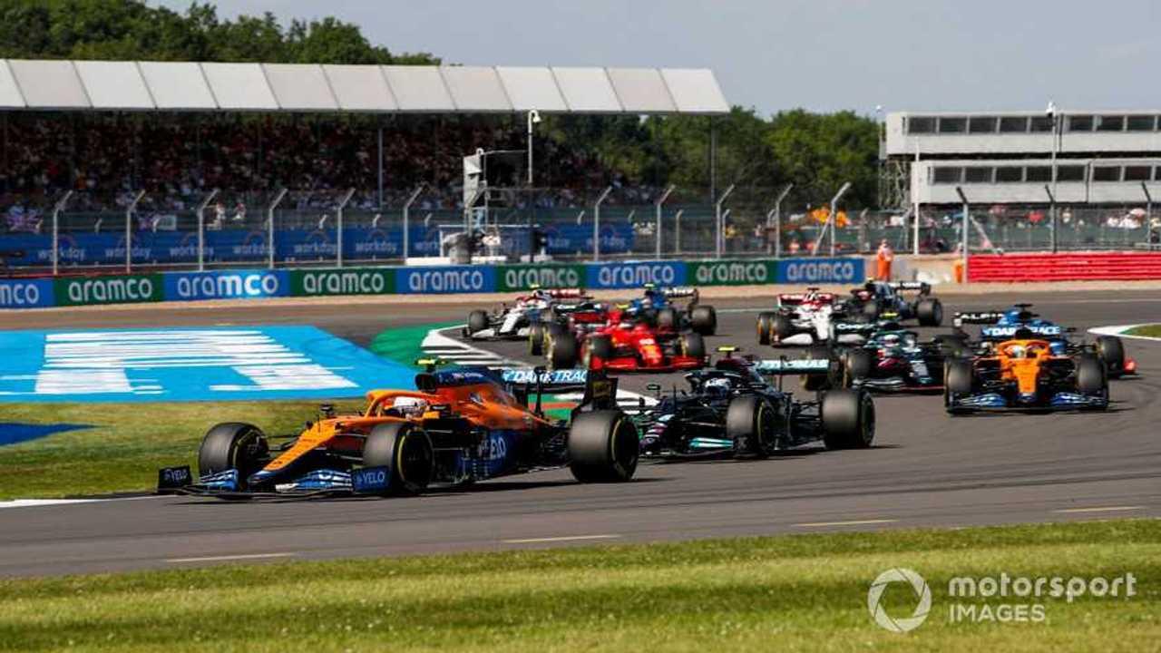 British GP 2021 after race restart