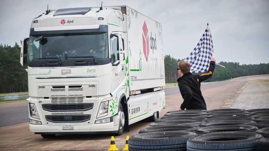 Record di autonomia per un camion elettrico con telaio Volvo