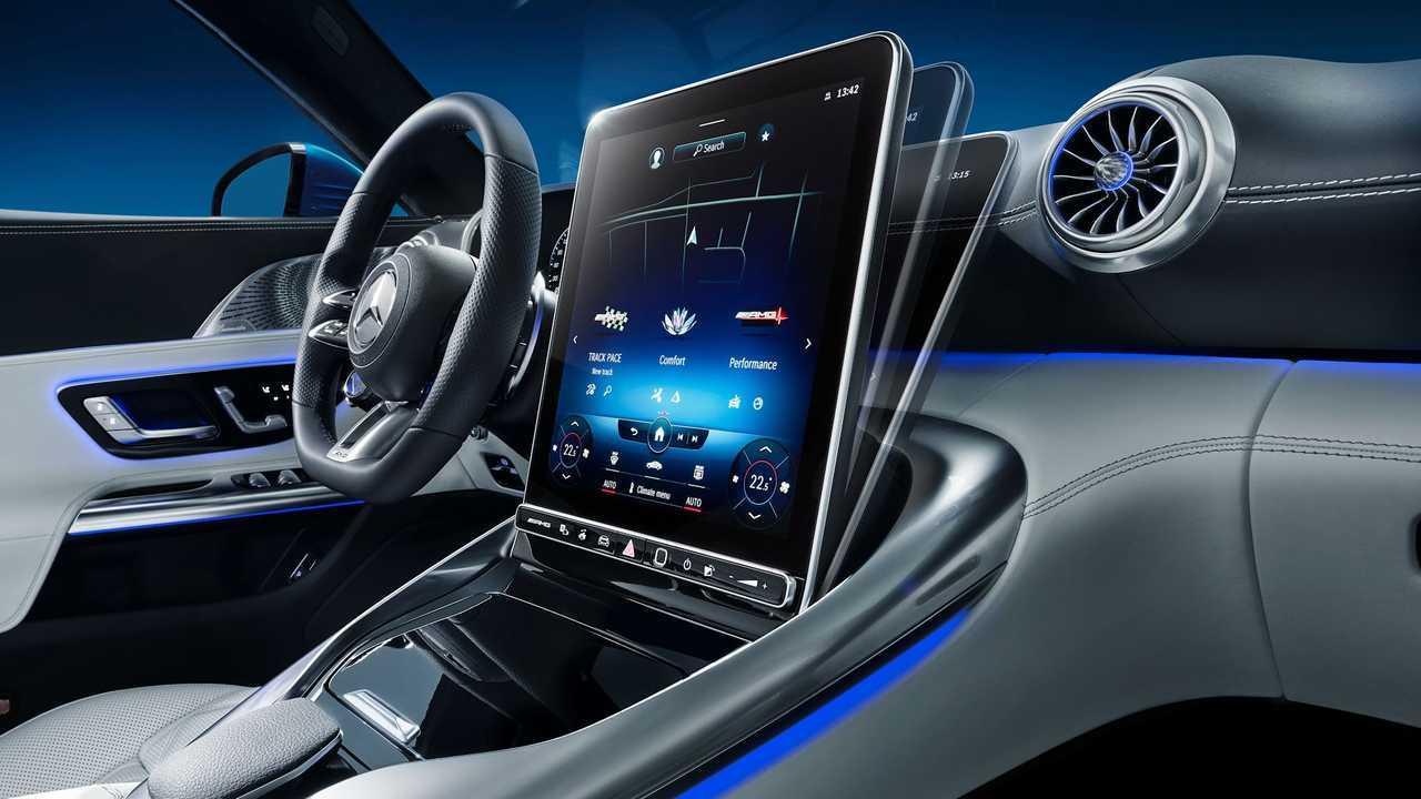 Mercedes reveals 2022 AMG SL-Class interior.