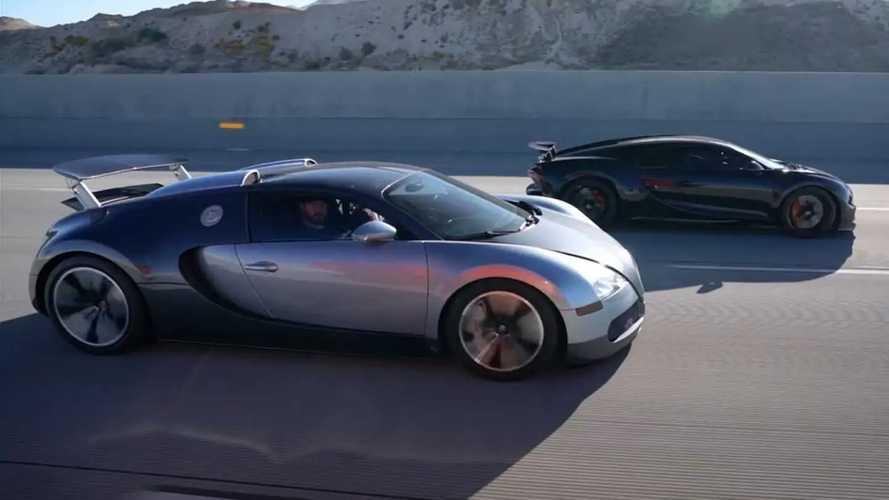 Briga de gerações: Bugatti Veyron e Chiron em um duelo pela coroa