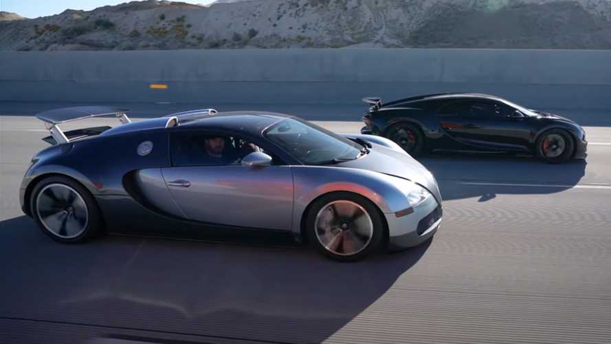 Битва двух Bugatti: Veyron против Chiron (видео)