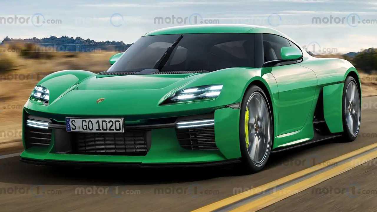 Рендер серийного Porsche Mission R