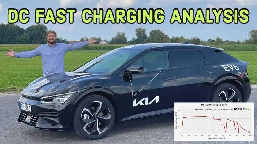 Kia EV6 beim Schnellladen: Gute Ladekurve, aber mit Einbrüchen