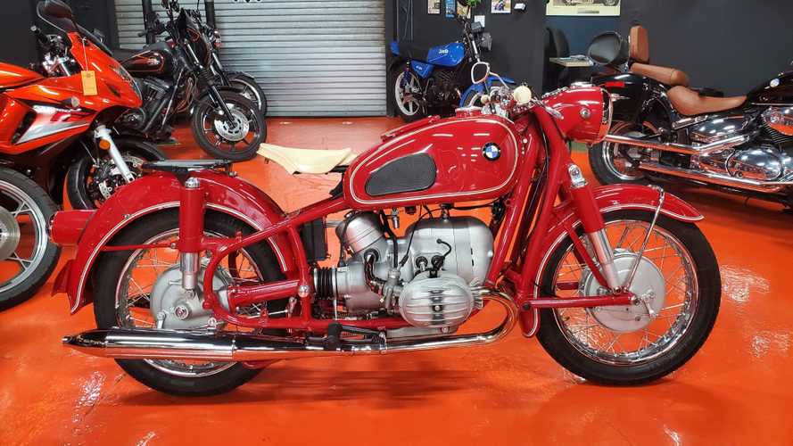 You Might Miss This Red Triple Number-Matched BMW R50 from 1957