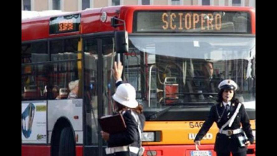 Trasporti Roma, giovedì 28 gennaio è sciopero