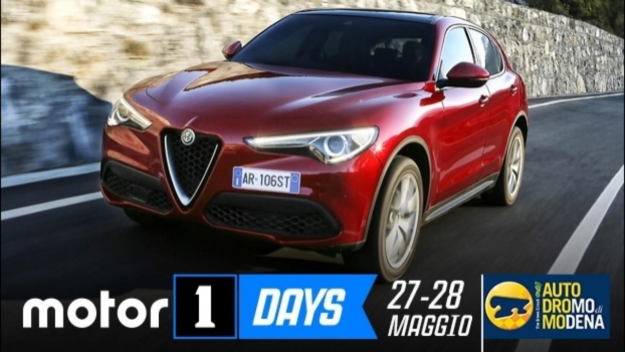 [Copertina] - Motor1Days, Alfa Romeo Stelvio e Giulia tutte da guidare