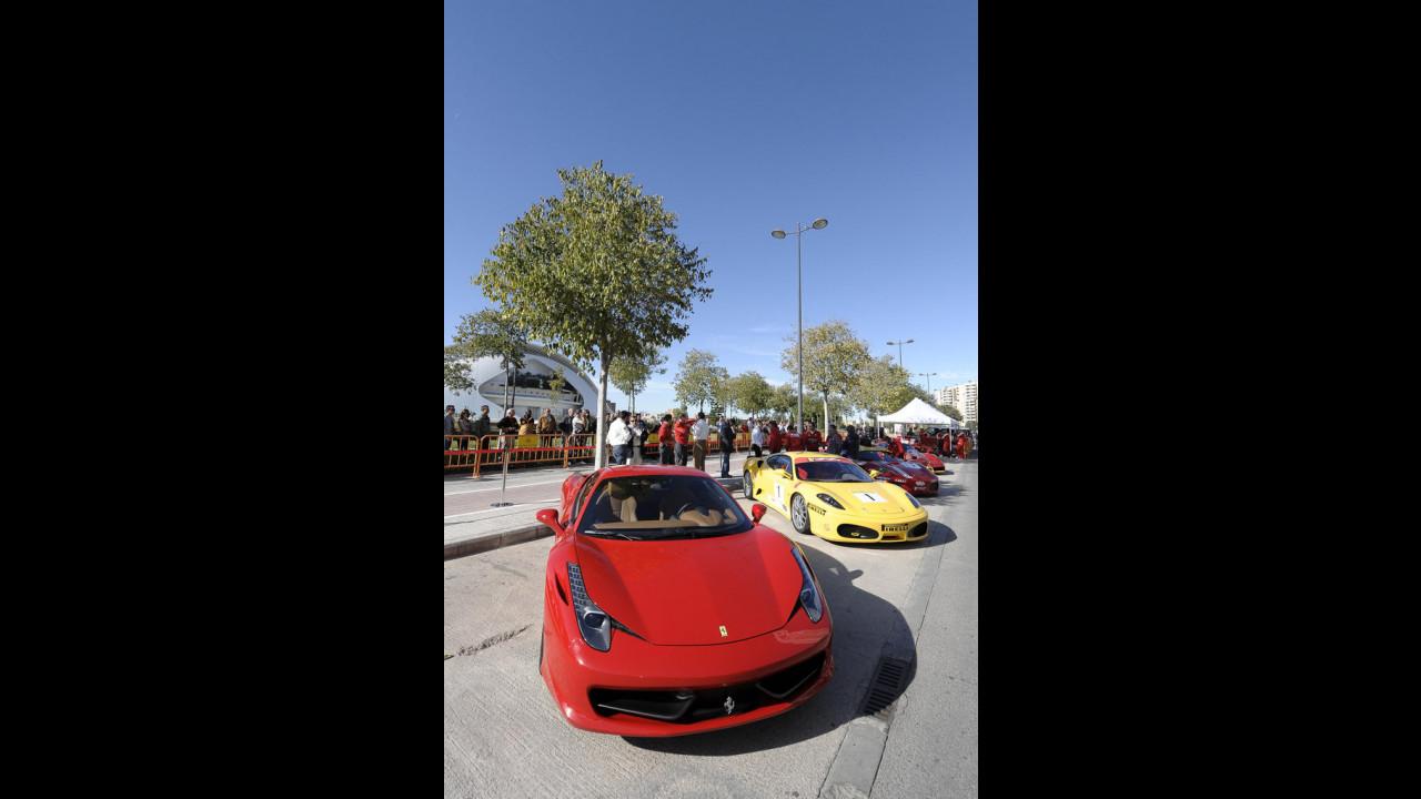 Ferrari parade a Valencia 2009