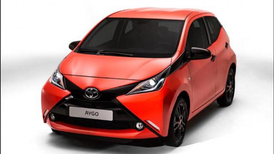 Nuova Toyota Aygo: una X per frontale