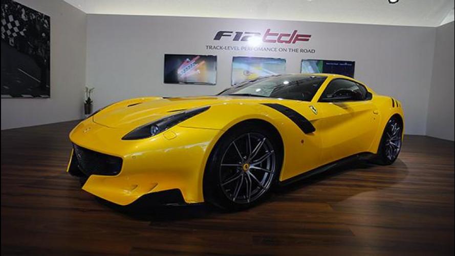 Ferrari F12tdf, gialla e cattivissima alle Finali Mondiali