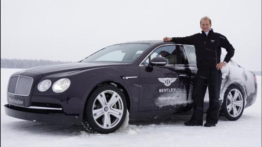 Bentley Flying Spur con il campione del mondo Juha Kankkunen