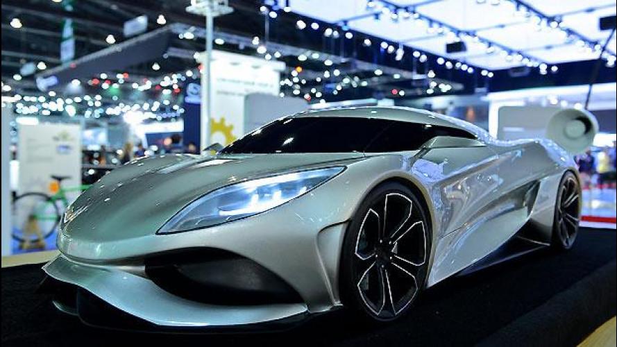 Koenigsegg Utagera, il concept giocattolo debutta a Bangkok
