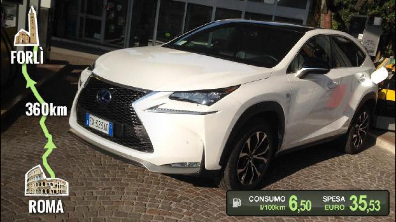 [Copertina] - Lexus NX Hybrid, la prova dei consumi reali