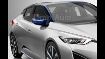 Nuova Nissan Leaf, il rendering