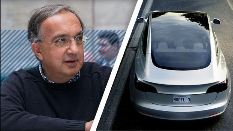 "Marchionne: ""Pronto a una Tesla Model 3 all'italiana"""