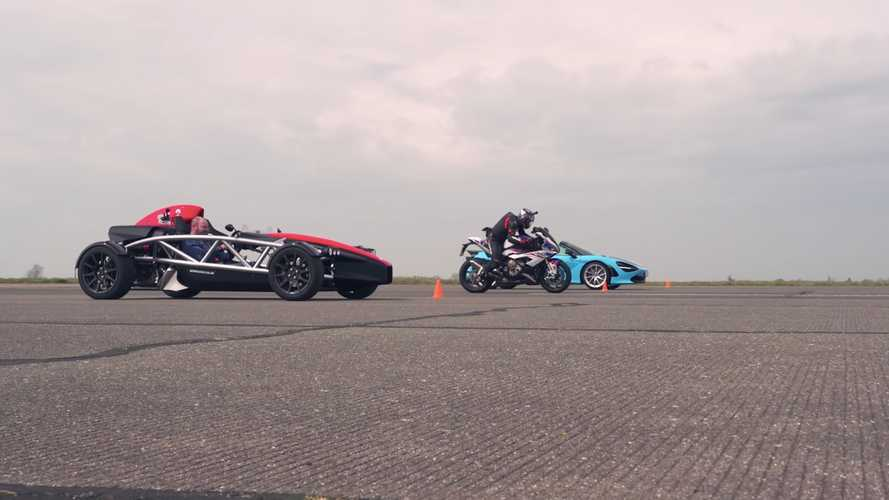 Three-Way Duel: McLaren 720S Vs. BMW S 1000 RR Vs. Ariel Atom