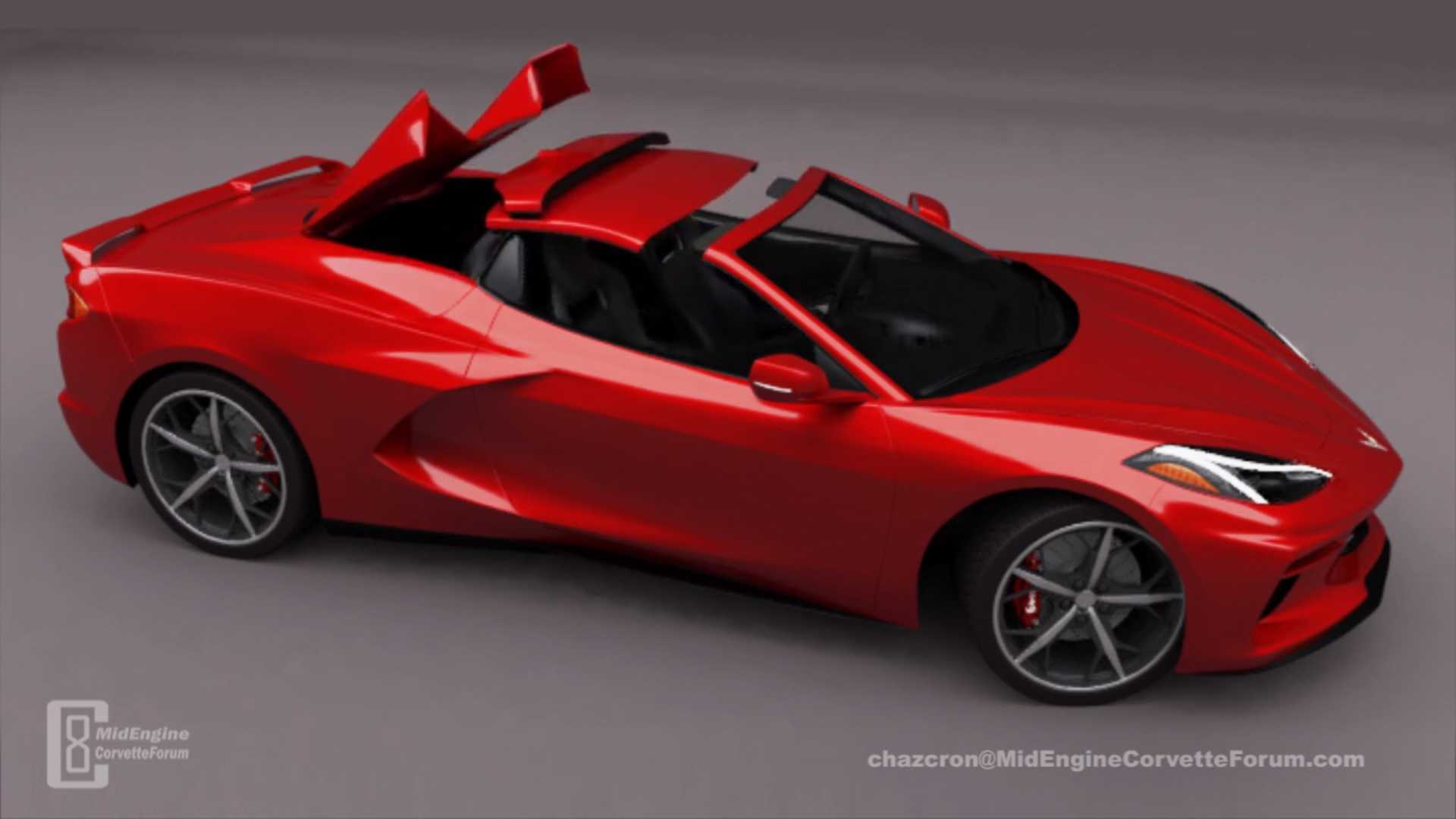 Mid Engined Corvette Convertible Rendered With Folding Roof Update