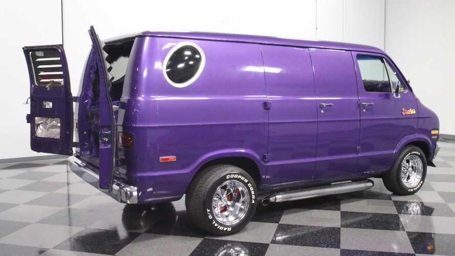 1976 Dodge B-100 'Crazy Van' Will Put You In A Purple Haze