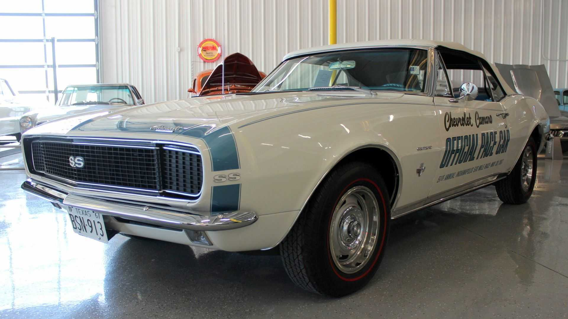 """[""""1967 Chevy Camaro Convertible Indy 500 Pace Car Up For Grabs""""]"""