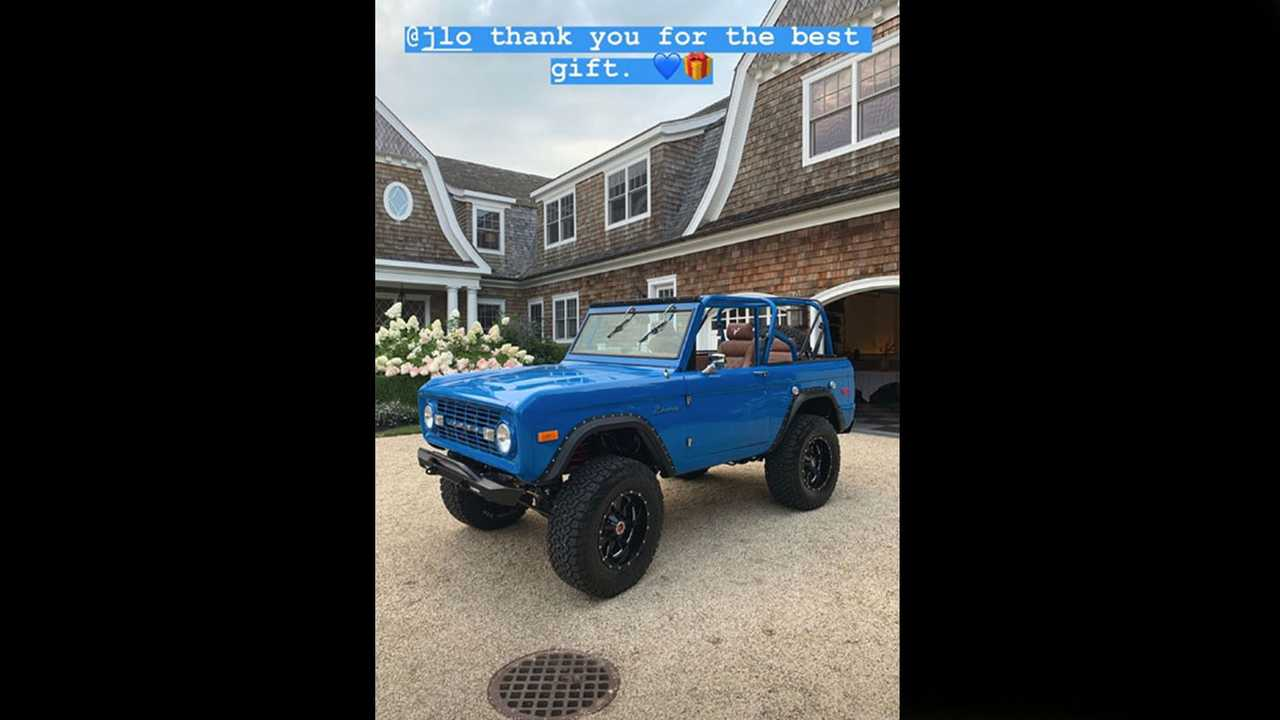 Check Out A-Rod's Classic Ford Bronco Birthday Present From J-Lo