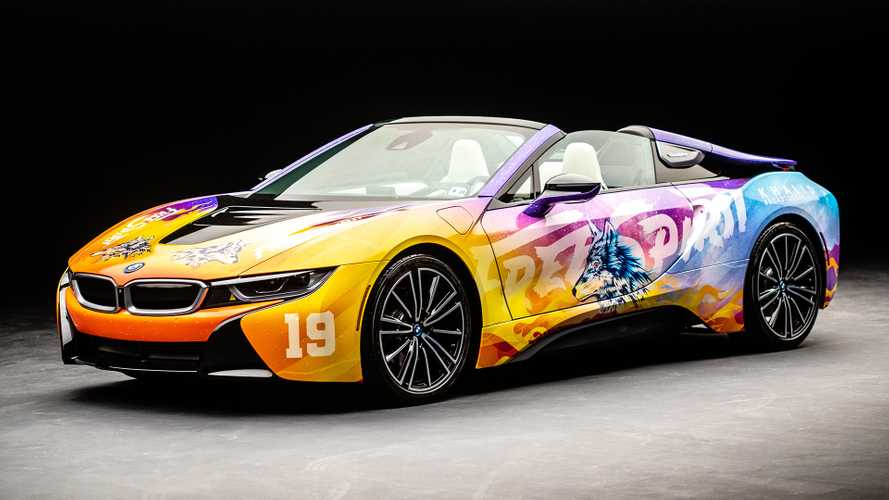 Dieser knallbunte BMW i8 soll Kunst sein