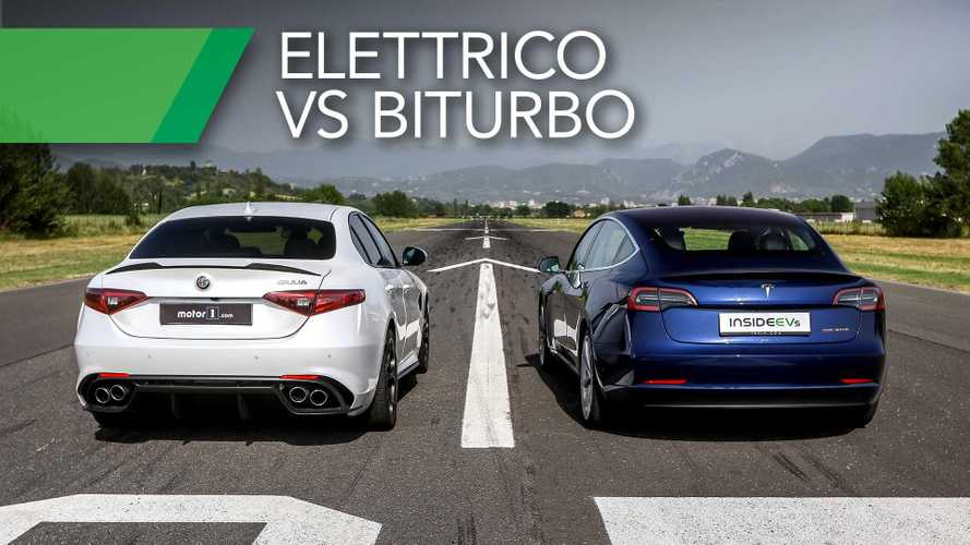 Tesla Model 3 VS Alfa Romeo Giulia Quadrifoglio, sfida tra futuro e presente