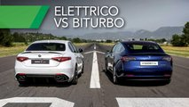 tesla model 3 vs alfa romeo giulia quadrifoglio future vs present