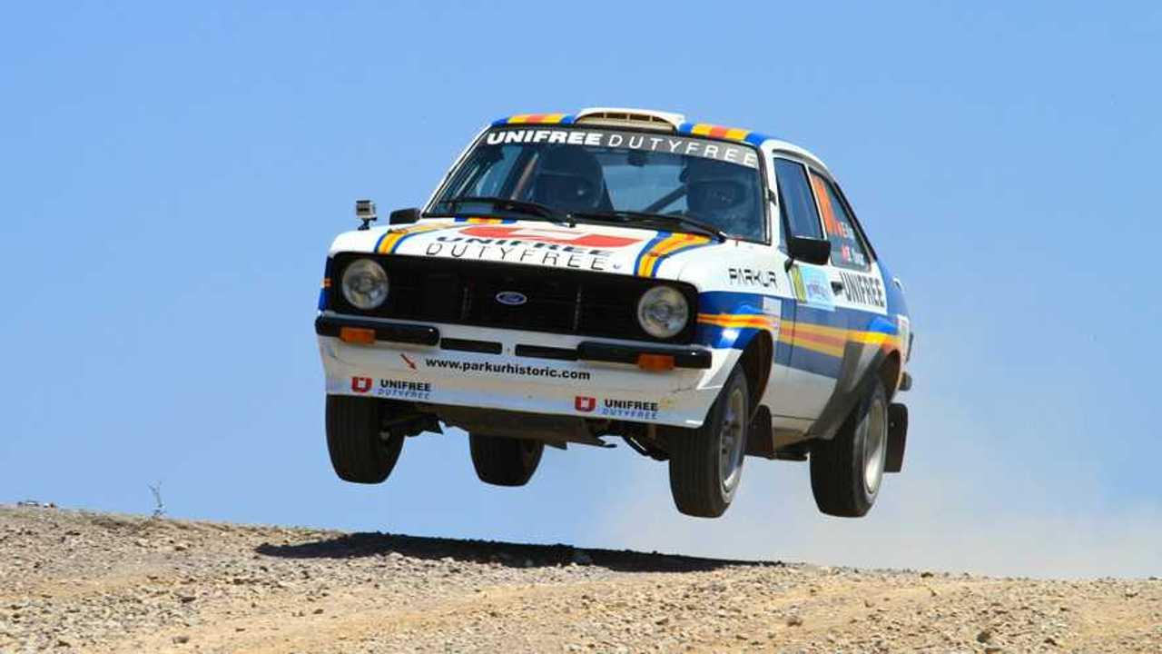Engin Kap drives Ford Escort Mk2 in 41st Bosphorus Rally ERC Championship Halli Stage in Istanbul Turkey