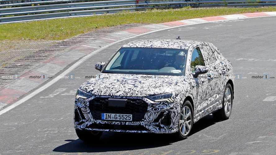 Audi Q4 spy photos at the Nurburgring