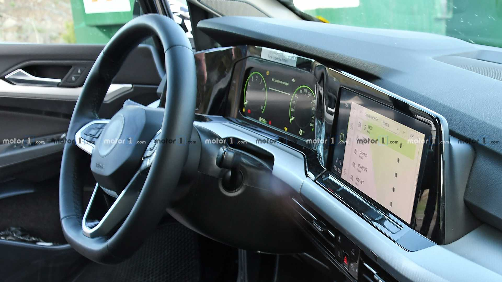 2020 vw golf interior spied for the first time. Black Bedroom Furniture Sets. Home Design Ideas