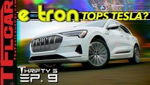 in what ways does the audi e tron beat the tesla model 3