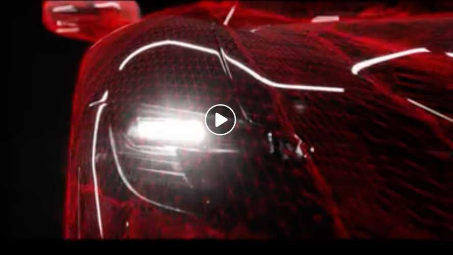 Ferrari releases new teaser for its hybrid supercar