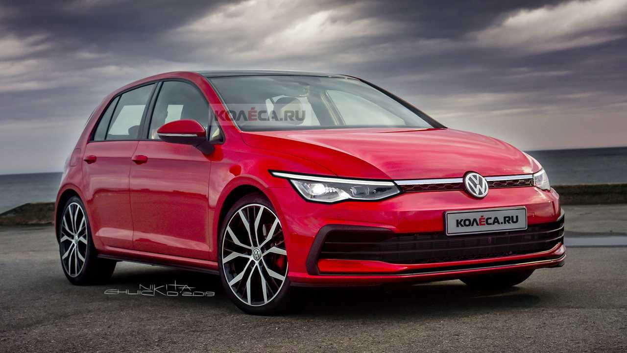2020 vw golf realistically rendered ahead of october reveal. Black Bedroom Furniture Sets. Home Design Ideas