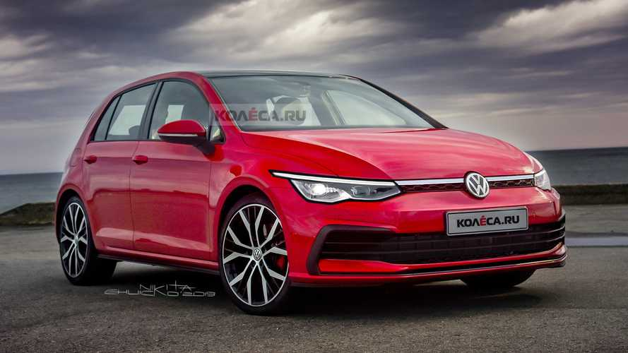 2020 VW Golf renderkép