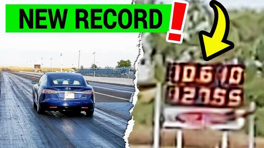 Watch Refreshed Tesla Model S Set New 1/4-Mile Record