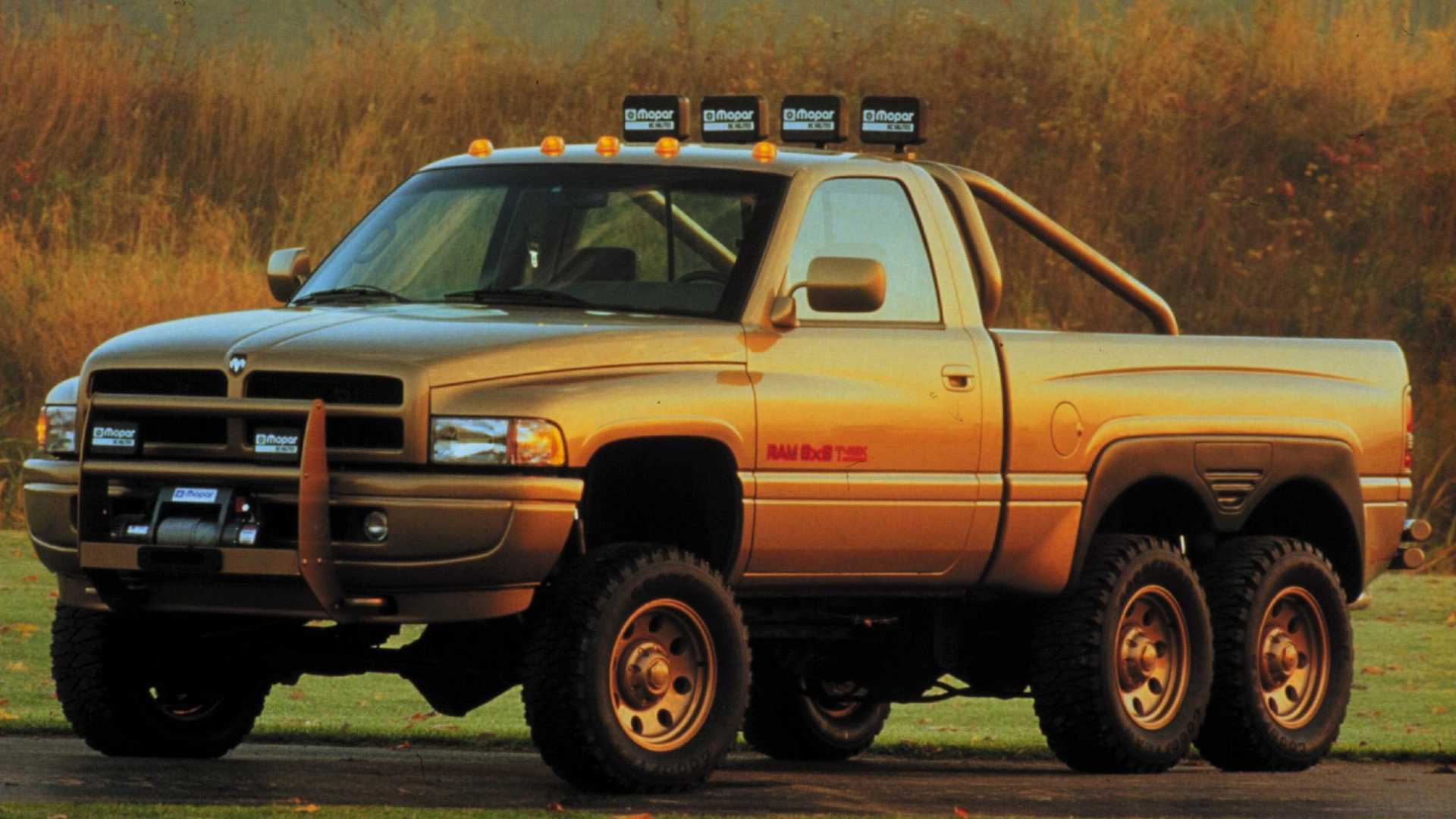 1996 Dodge Ram T Rex 6x6 Concept We Forgot