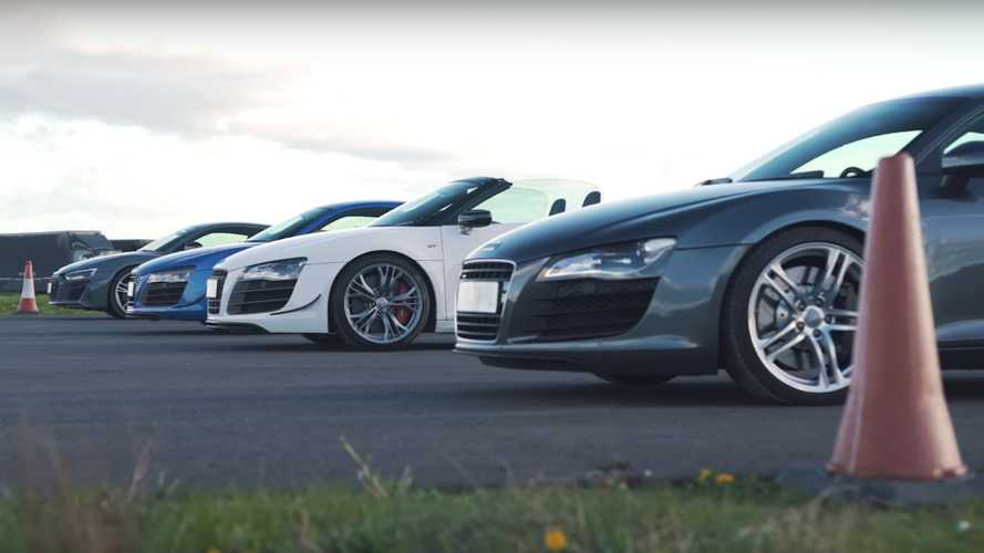 Audi R8 Generations Face Each Other In A Drag Race