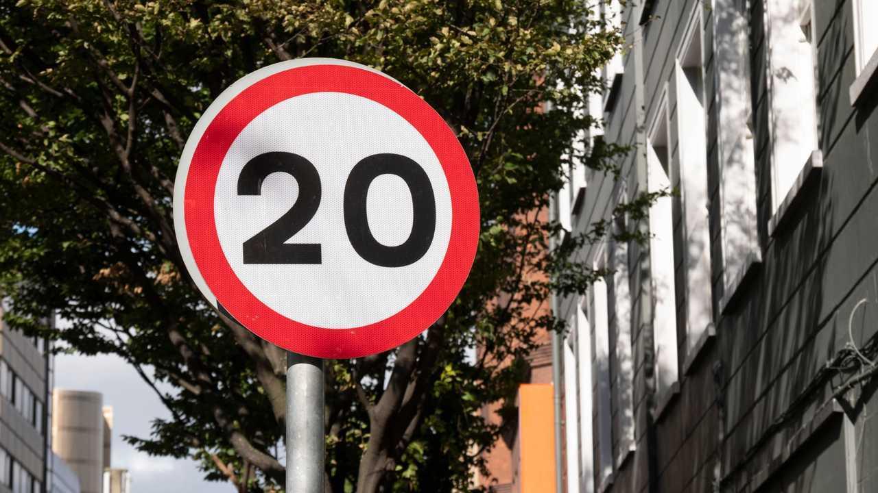20 mph sign in Belfast city centre
