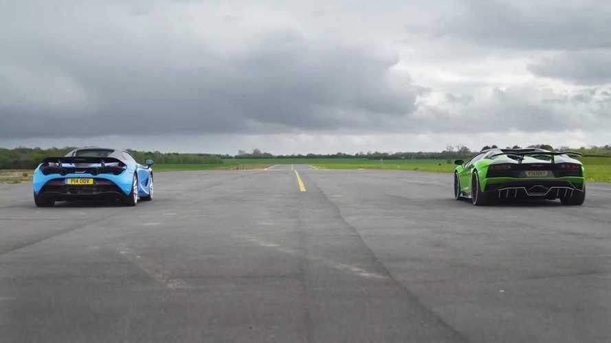 VIDÉO - Lamborghini Aventador S Roadster vs McLaren 720S Spider